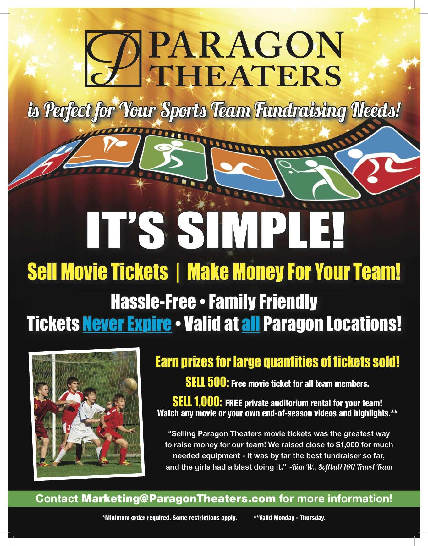 Paragon Theaters Donation Requests